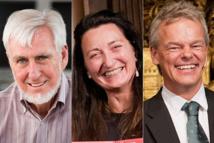 Left to Right: John O'Keefe, May-Britt Moser, Edvard I. Moser (Photos: AP, Zuma)