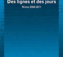 Des lignes et des jours , Notes 2008-2011. Peter SLOTERDIJK. 31/03/2014.